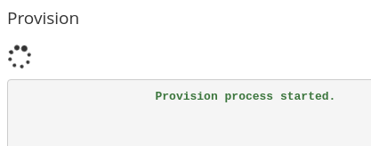opcache provision process started