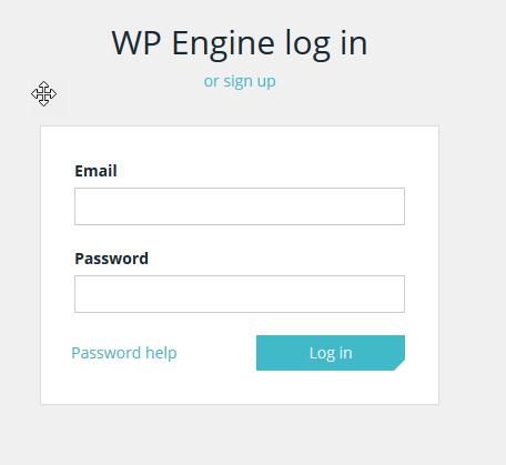 WPEngine login page
