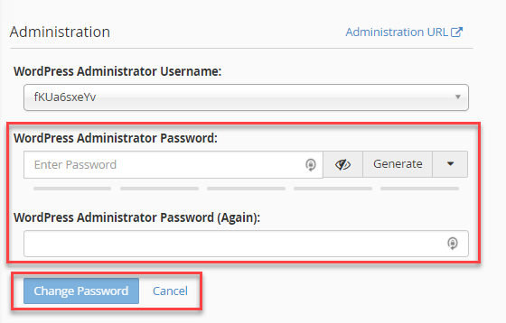 Click in the field and type new password