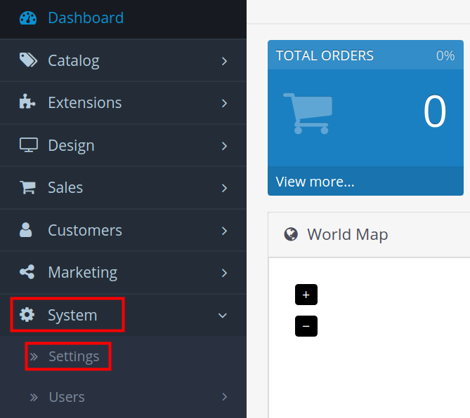 opencart 3 ssl opencart system settings