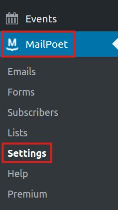 wordpress plugins mailpoet mailpoet settings