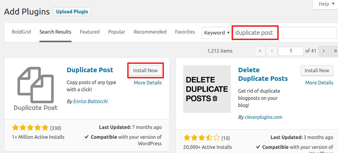 wordpress duplicate post install duplicate post plugin
