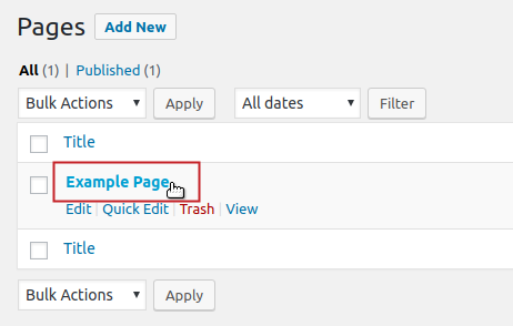 wordpress replacing images all pages select example page to edit