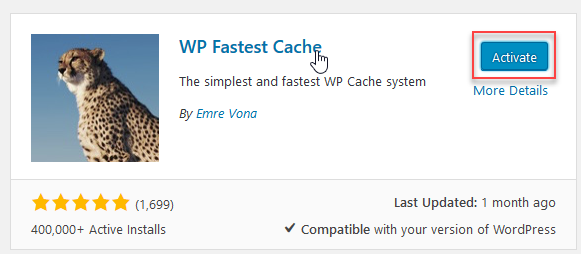 Image result for Wp Fastest Cache