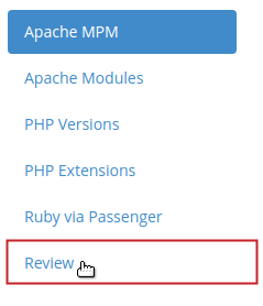 Customize Profile Review menu option highlighted
