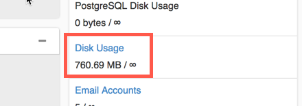 click on Disk Usage