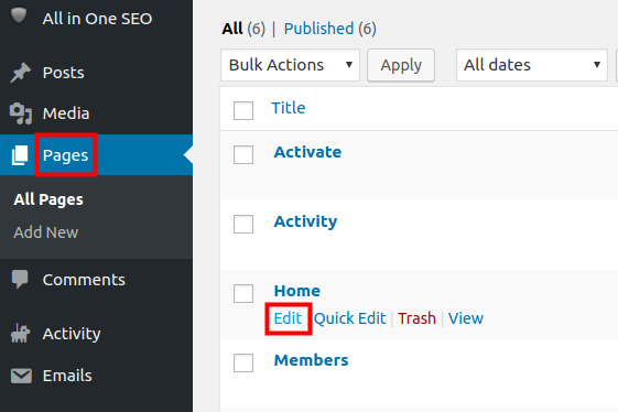 wordpress all in one seo pack all in one seo edit pages