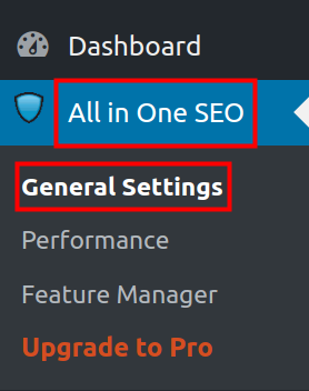 wordpress all in one seo pack all in one seo general settings page