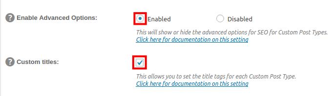 wordpress all in one seo pack enable custom titles