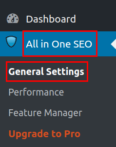 wordpress all in one seo pack general settings all in one seo