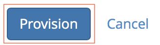 EasyApache 4 Provision button highlighted.