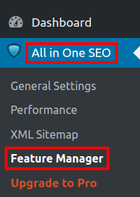 wordpress all in one seo pack social meta all in one seo feature manager