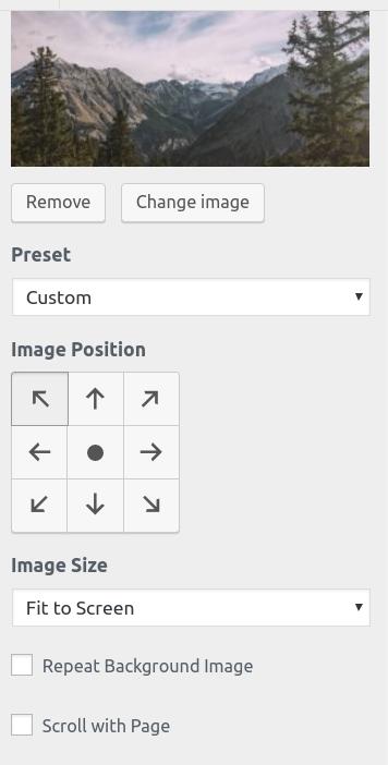 wordpress woocommerce storefront customize background customize background image