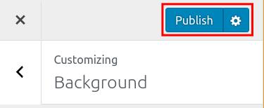 wordpress woocommerce storefront customize background publish background