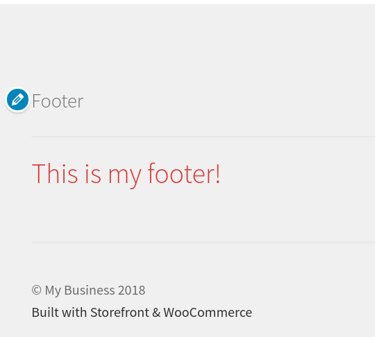 wordpress woocommerce storefront customize footer color changed footer color