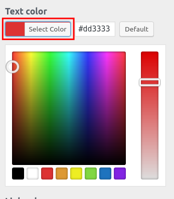 wordpress woocommerce storefront customize footer color select text color