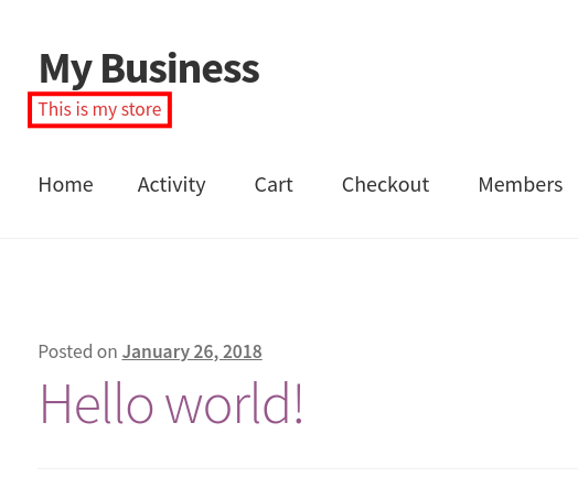 wordpress woocommerce storefront customize header change header text color