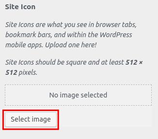 wordpress woocommerce storefront set site identity select icon image