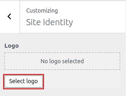wordpress woocommerce storefront set site identity select storefront logo