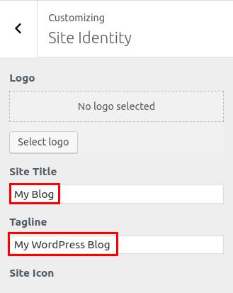 wordpress woocommerce storefront set site identity site title logo