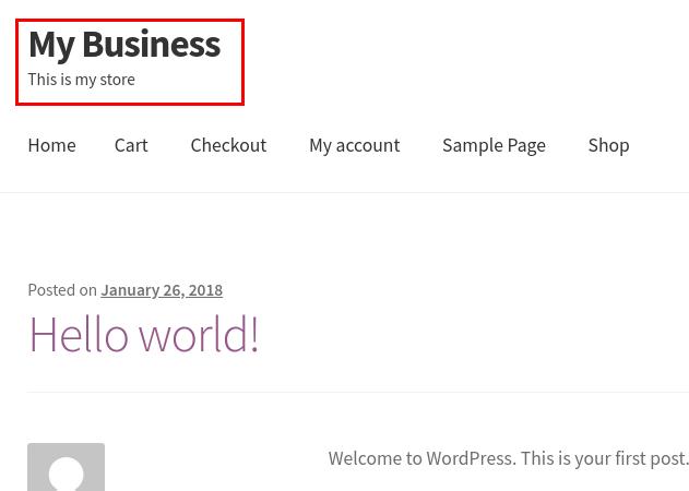 wordpress woocommerce storefront set site identity updated site title tagline