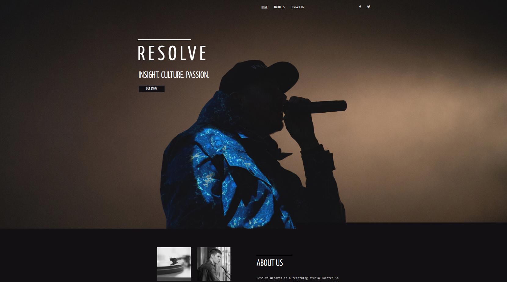 Resolve Theme Screenshot