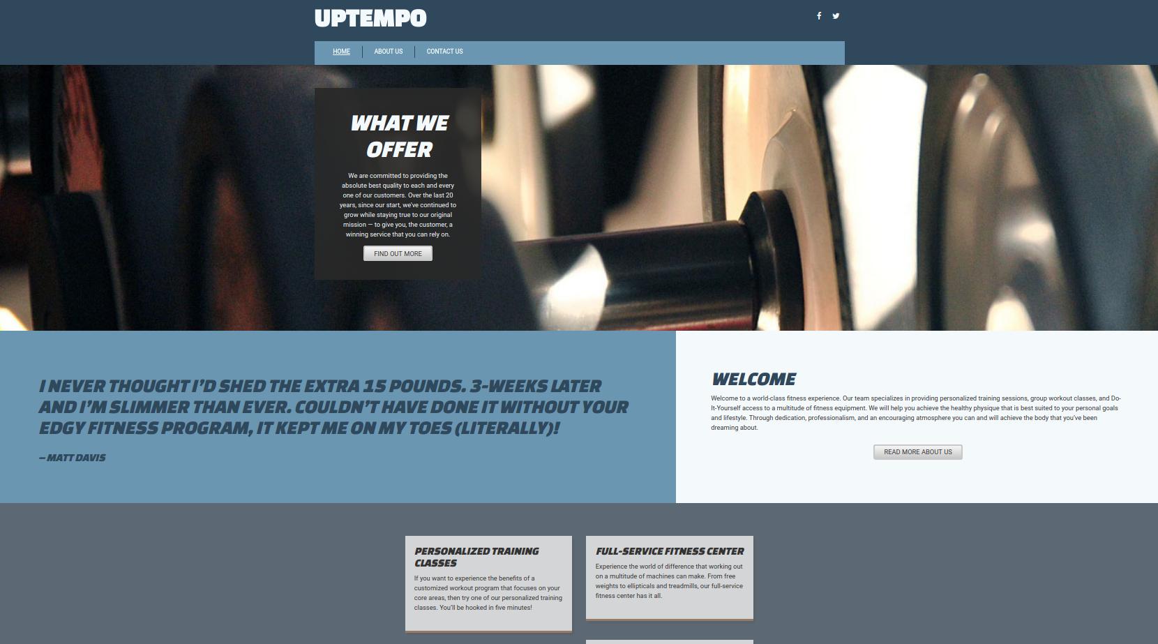 Uptempo Theme Screenshot