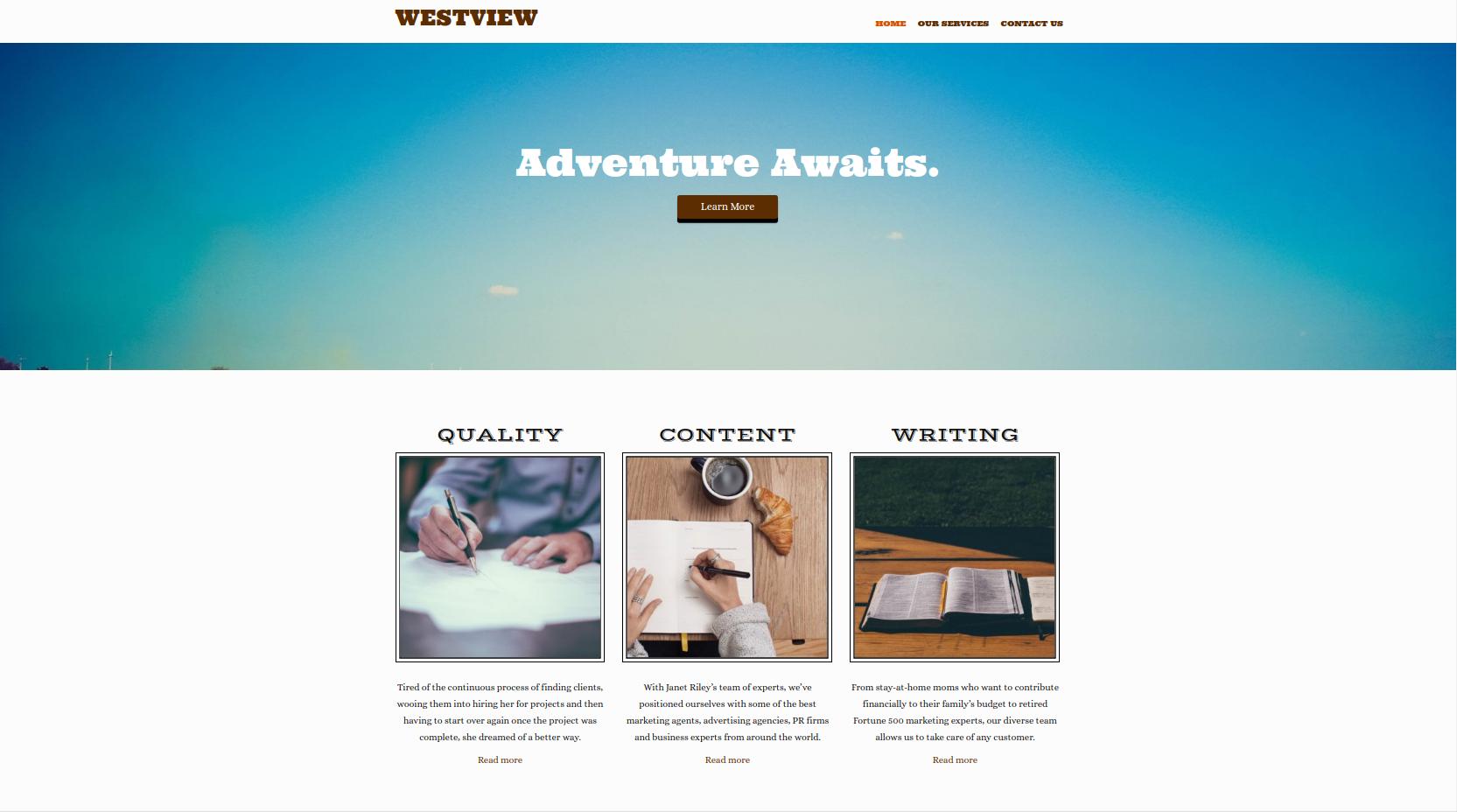 Westview Theme Screenshot
