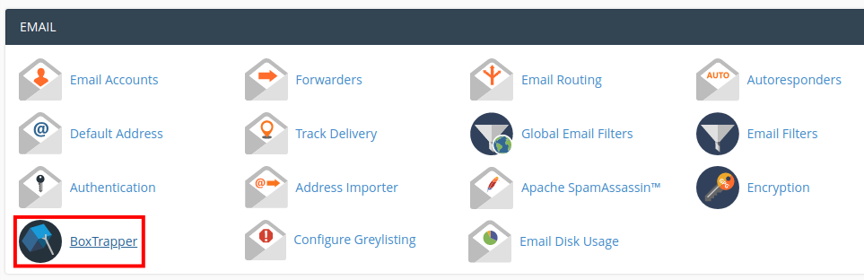 email boxtrapper configure settings cpanel