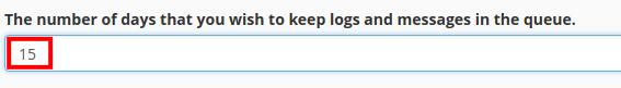 email boxtrapper configure settings queue length