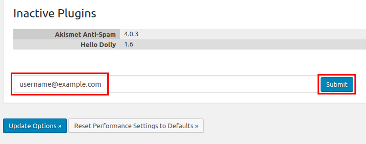 wordpress all in one seo pack performance feature email debug report
