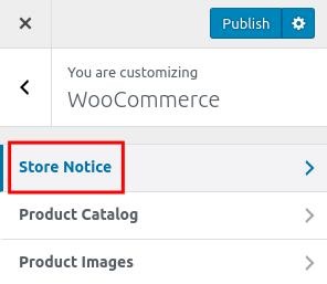 wordpress woocommerce storefront store notice store notice