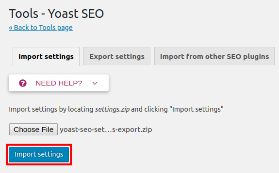 How to Import and Export Yoast SEO Settings in WordPress