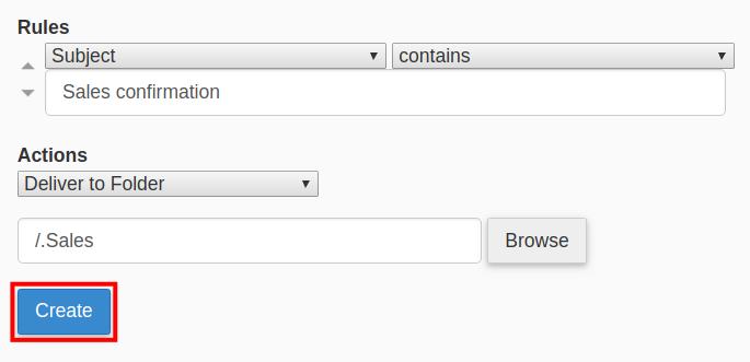 webmail email filter create webmail filter