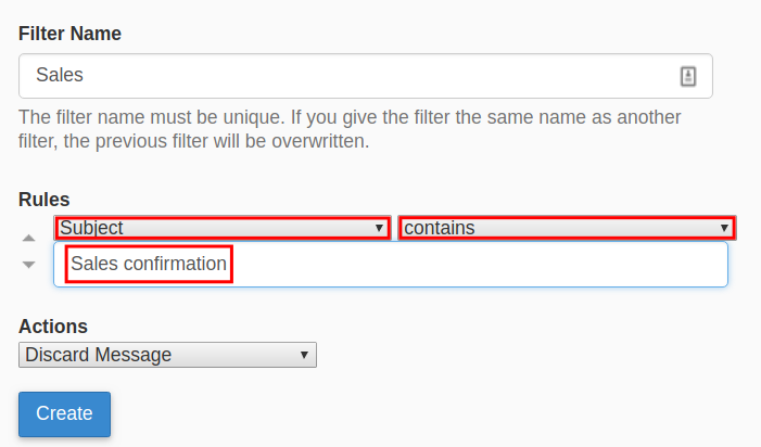 webmail email filter webmail filter rules settings