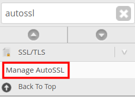 Where to go in WHM to Manage AutoSSL