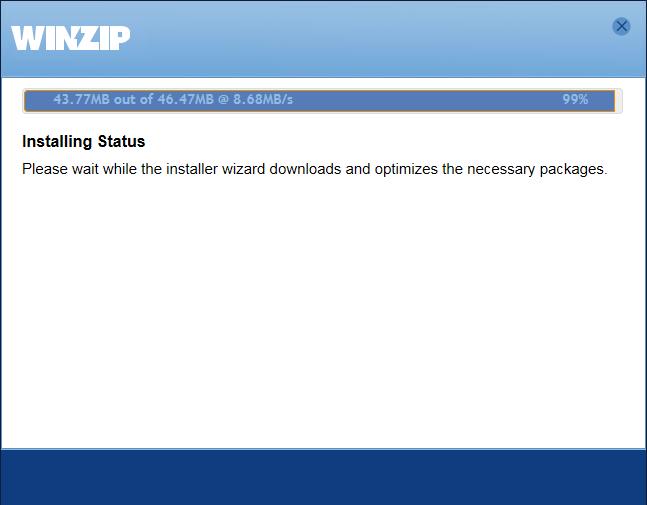 Winzip install status
