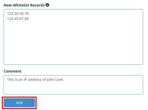 dedicated hosting blacklist whitelist add ip to whitelist
