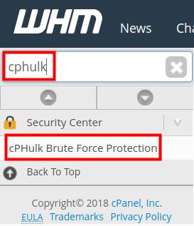 How to Blacklist/Whitelist an IP Address in WHM   InMotion