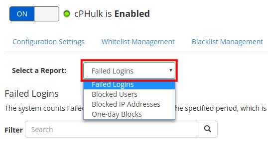 dedicated hosting blacklist whitelist select report