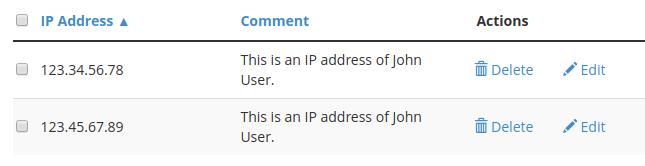 dedicated hosting blacklist whitelist whitelisted ip addresses