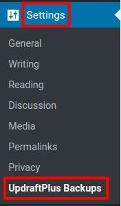 wordpress updraftplus dropbox backup updraftplus settings
