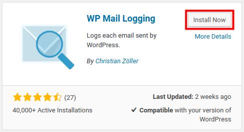 wordpress wp mail logging install wp mail logging