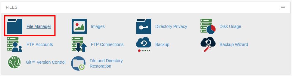 cpanel file manager delete trash cpanel file manager
