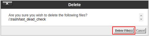 cpanel file manager delete trash deleting trash in file manager
