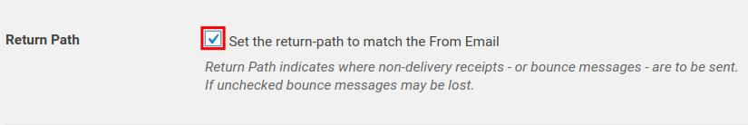 WP Mail SMTP Return Path