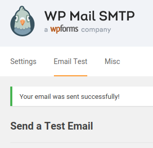 wp mail smtp test sent successfully