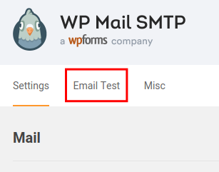 wp mail smtp send test email
