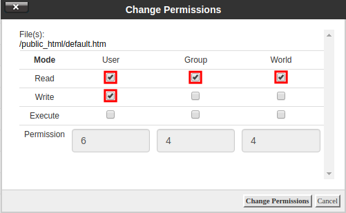 How to Change File Permissions in cPanel | InMotion Hosting