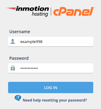 cpanel reset page settings cpanel login